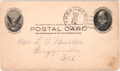 Thornberry TX - Clay Co 1905 Postmark