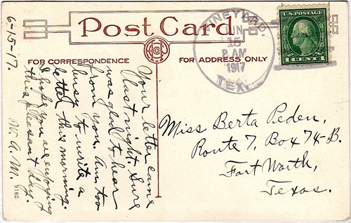 Vineyard TX Jack County 1917 Postmark