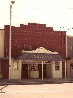 Cliftex Theater Clifton Texas old photlo