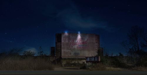 Lufkin TX - Redland Drive-In-Theater at night