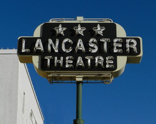 Grapevine Tx - Lancaster Theatre Neon Sign