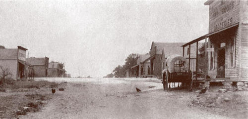Cottonwood, Texas main street, 1890s