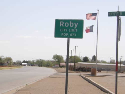 Roby, Texas.