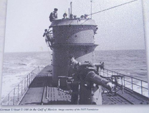 German U Boat in Gulf of Mexico