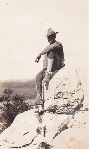 Soldier at Longfellow TX, 1920s old photo