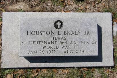 Brady TX - Houston L. BralyHeadstone,  Rest Haven Cemetery