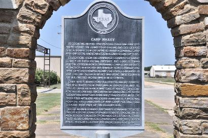 TX - Camp Maxey Historical Marker